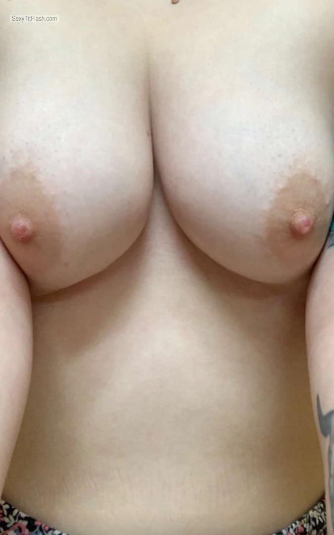 Tit Flash: Room Mate's Big Tits - Hot Tits from United States