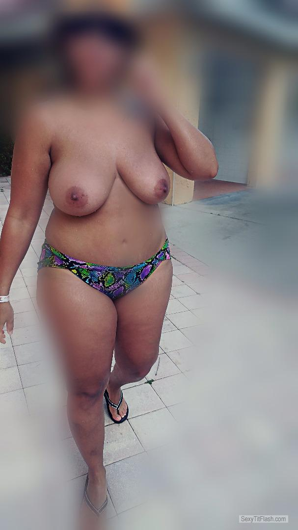 Big Tits Of My Wife Topless At Public Pool