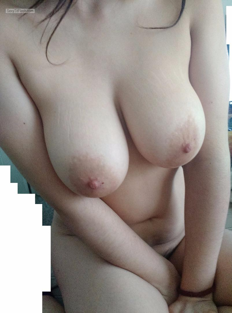 Tit Flash: My Big Tits - Topless Jessica from United Kingdom