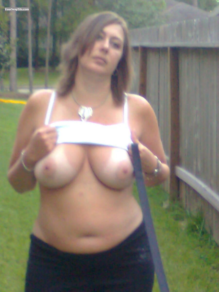tit Topless wife big