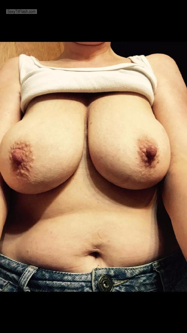 Tit Flash: My Big Tits (Selfie) - Heather from United States
