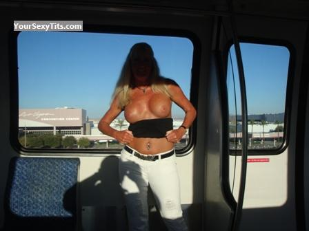 Tit Flash: Big Tits - Softail from United States