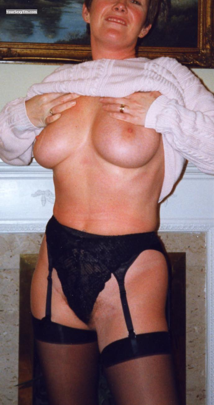 Tit Flash: Big Tits - Topless Jean from United Kingdom