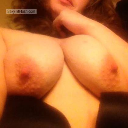 Tit Flash: My Big Tits (Selfie) - Topless Sharing Is Caring from United States