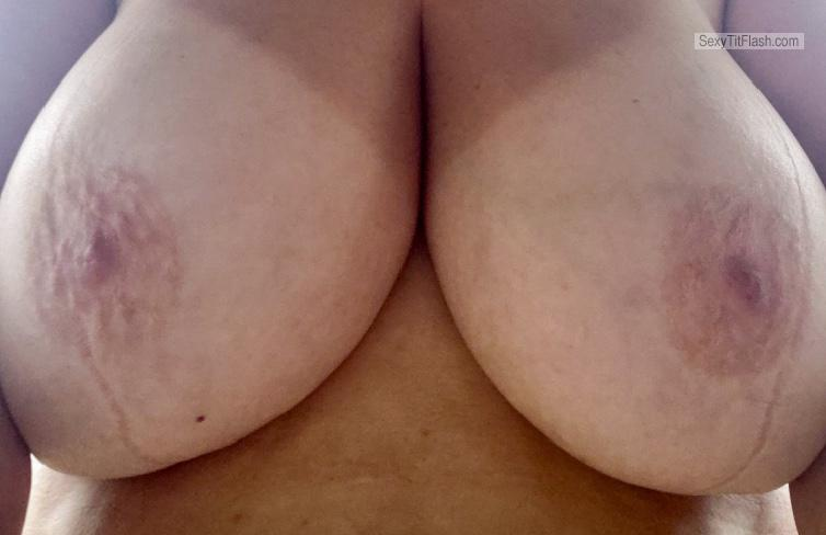 Tit Flash: My Big Tits With Strong Tanlines (Selfie) - Hotness from United States