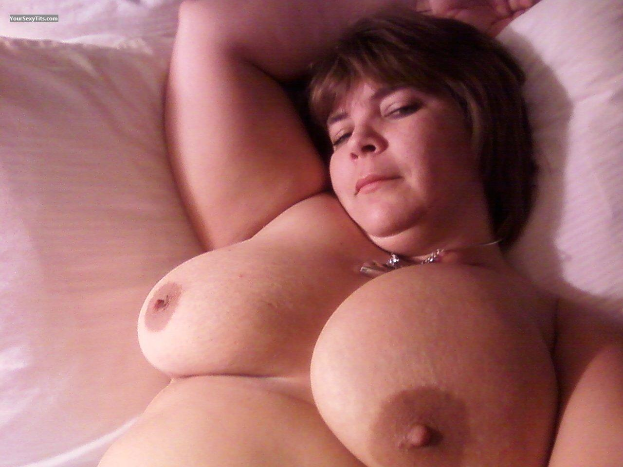 Tit Flash: My Big Tits (Selfie) - Topless Diane from United States