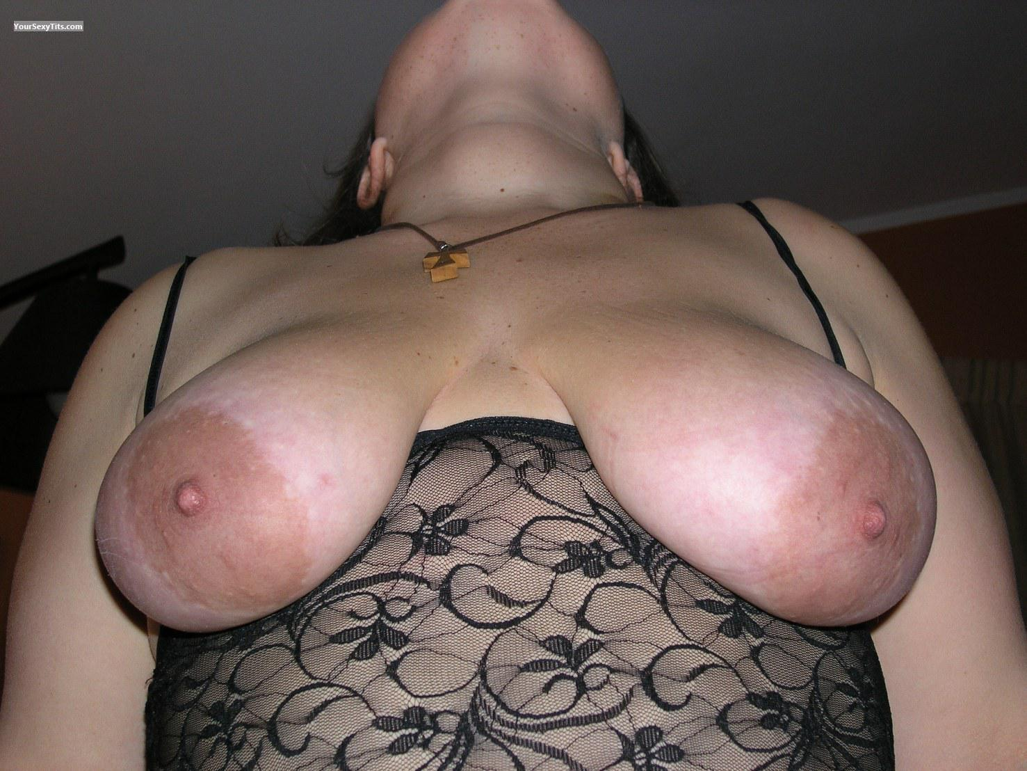 Tit Flash: Wife's Big Tits - Topless Boccadoro77 from Italy