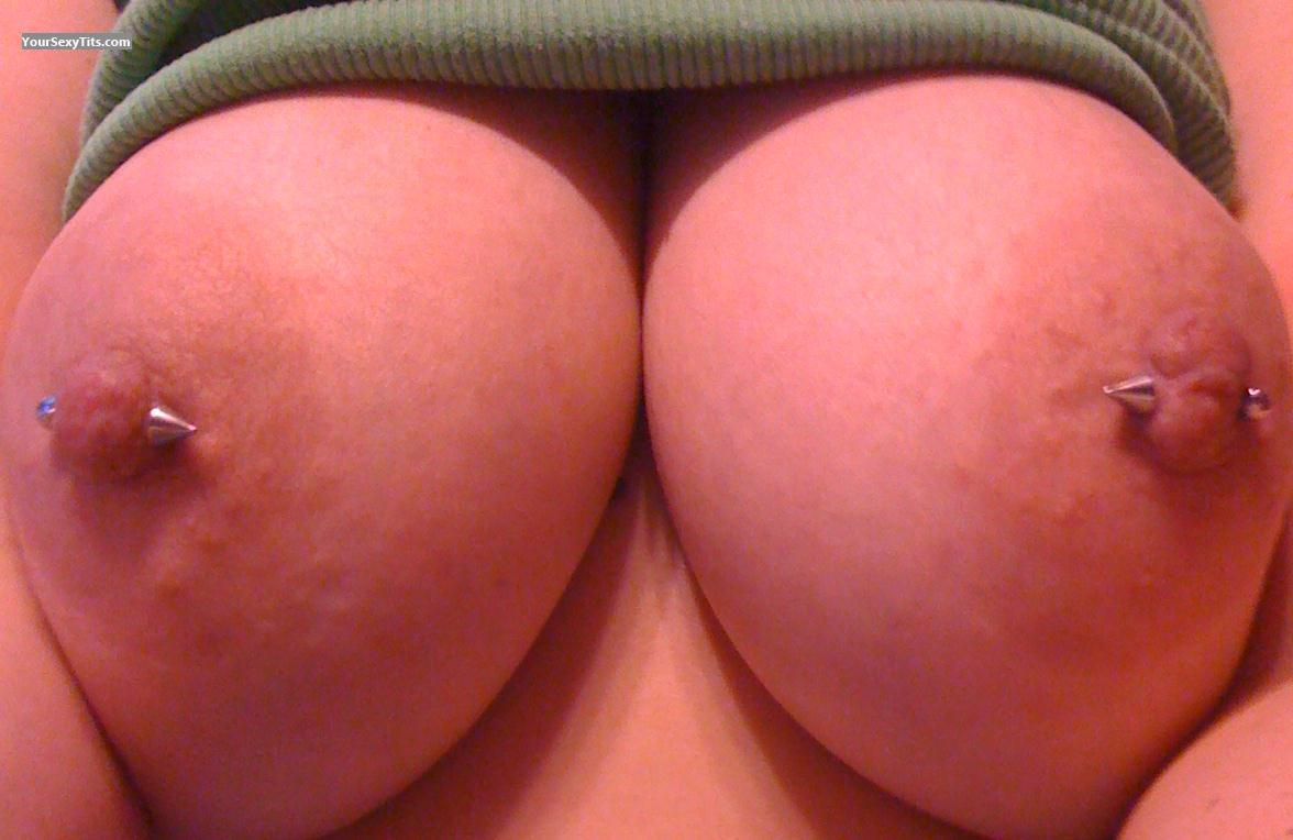 Tit Flash: My Big Tits (Selfie) - DaringCat from United StatesPierced Nipples