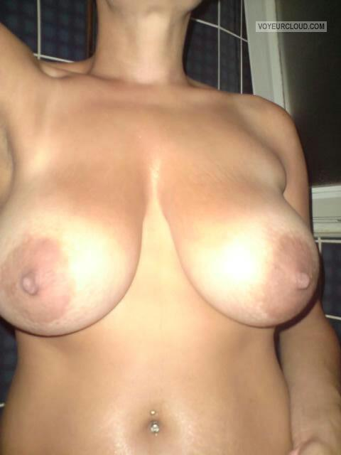 Tit Flash: Wife's Tanlined Big Tits - Andzia from Poland