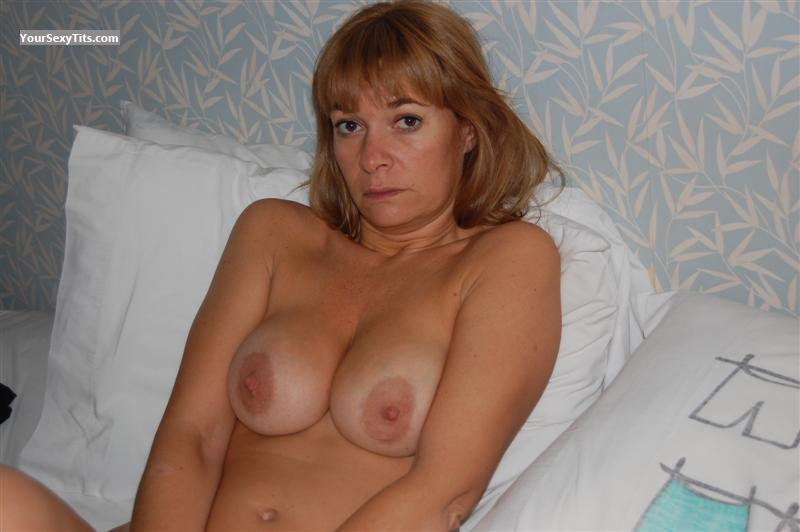 Tit Flash: Wife's Tanlined Big Tits - Topless Argentinita from Argentina