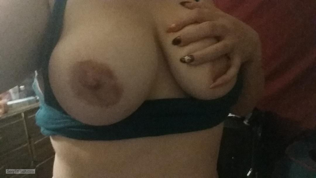 Tit Flash: Girlfriend's Big Tits (Selfie) - Busty Hot Milf 39y from United States