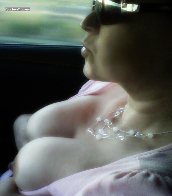 Tit Flash: My Big Tits - Topless Lynn C from United States