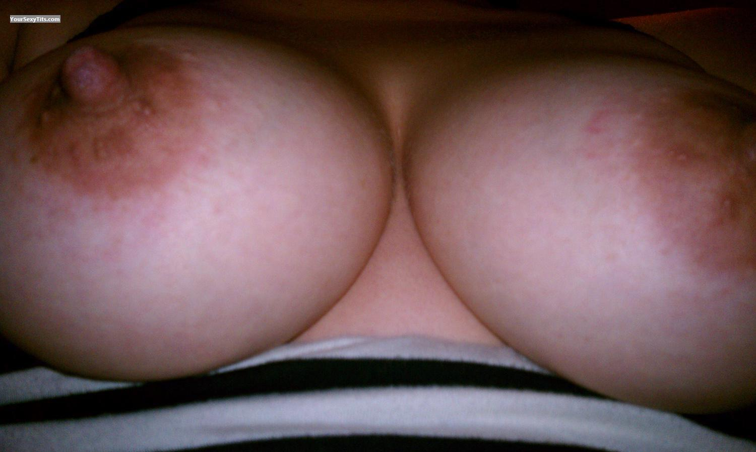 Tit Flash: Wife's Big Tits (Selfie) - C from United States