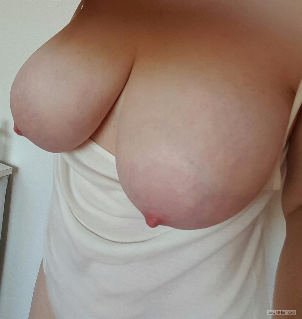 Tit Flash: My Big Tits (Selfie) - Crazyboobd from United States