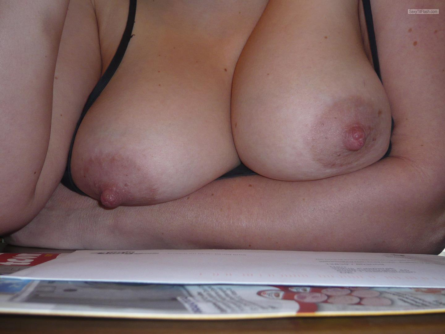 Tit Flash: Wife's Big Tits - Maurice09 from Germany