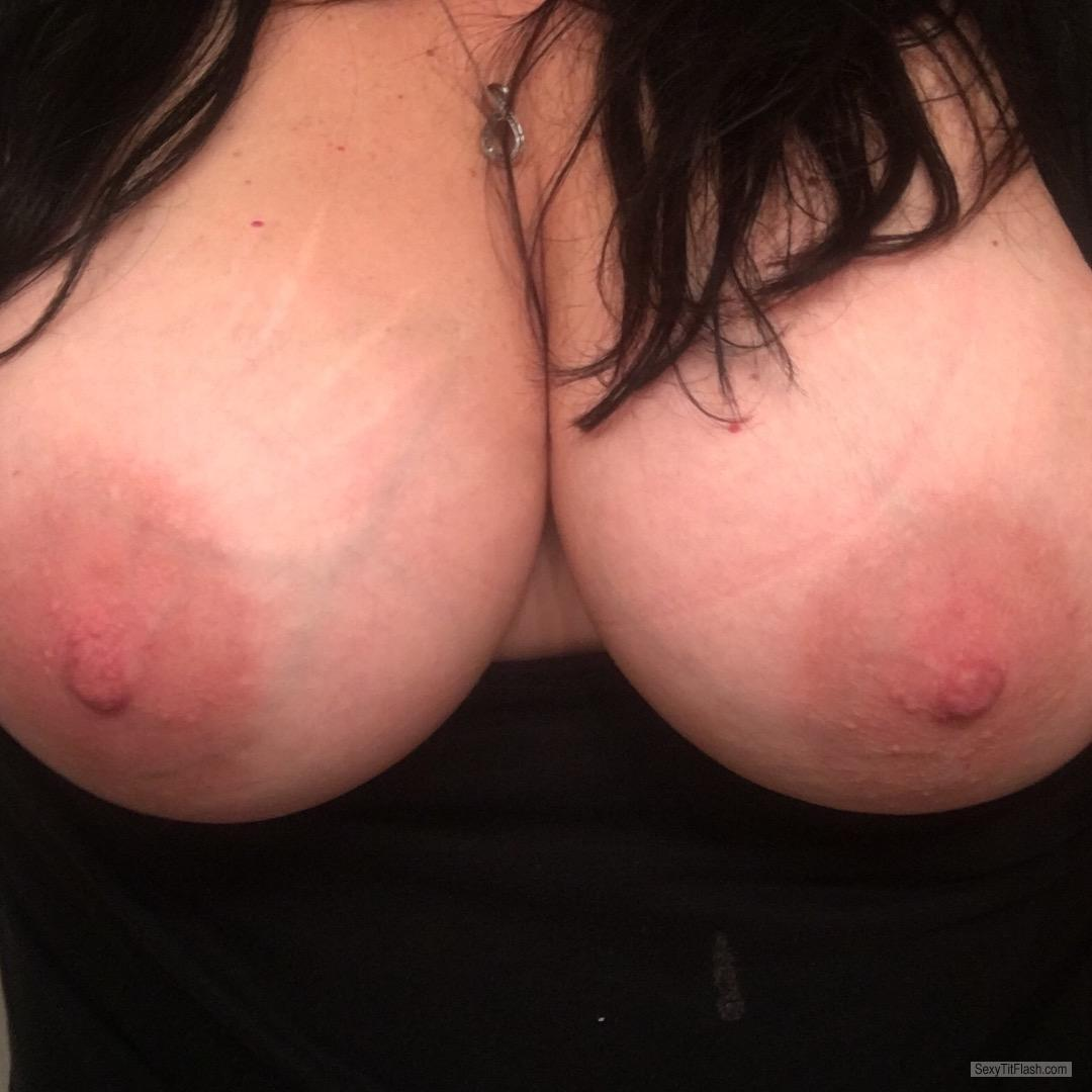 Tit Flash: My Big Tits (Selfie) - Topless Shan from United States
