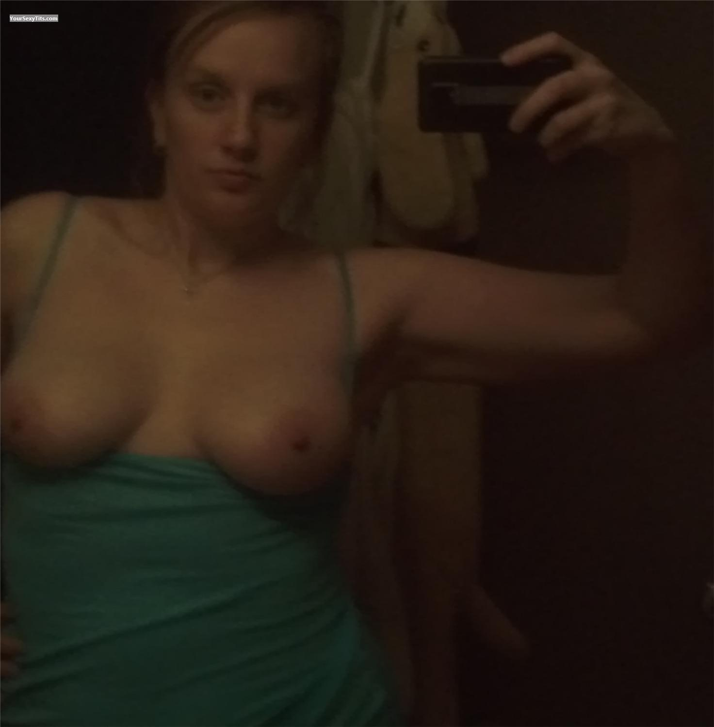 Big Tits Of A Friend Topless Selfie by Stehpany