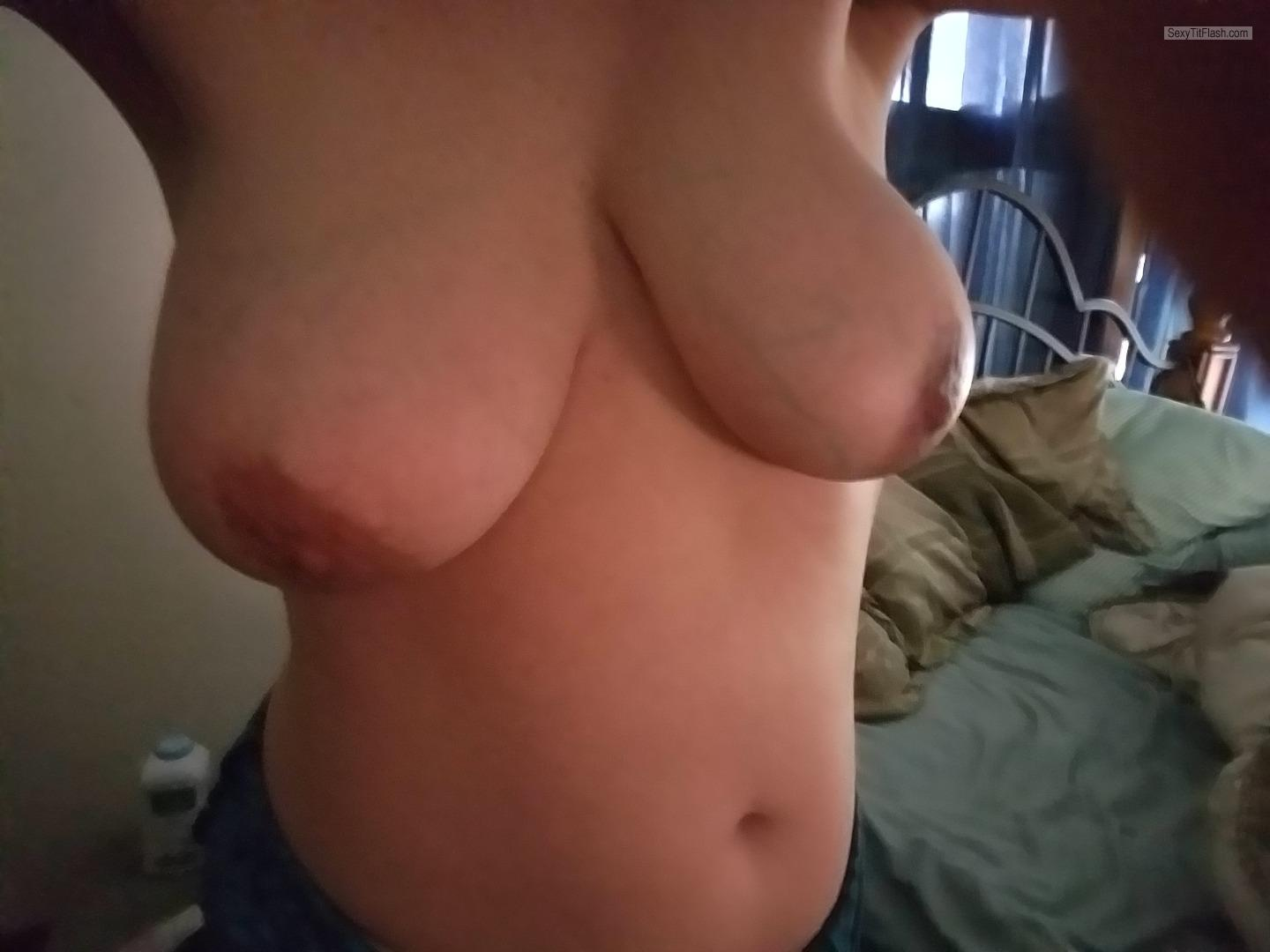 Tit Flash: My Big Tits (Selfie) - Bigtitsmarie from United States