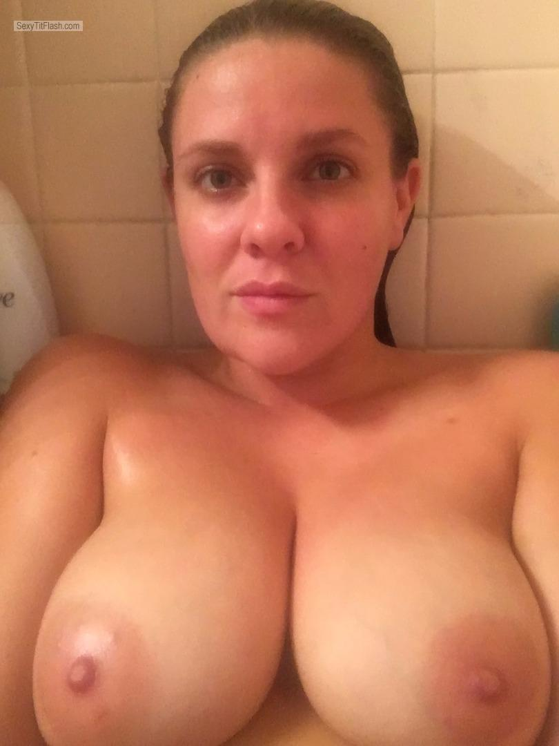 Tit Flash: My Big Tits (Selfie) - Topless Krista from United States