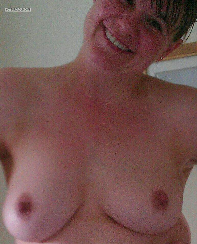 Tit Flash: Wife's Big Tits - Loopy's Boobies from United Kingdom