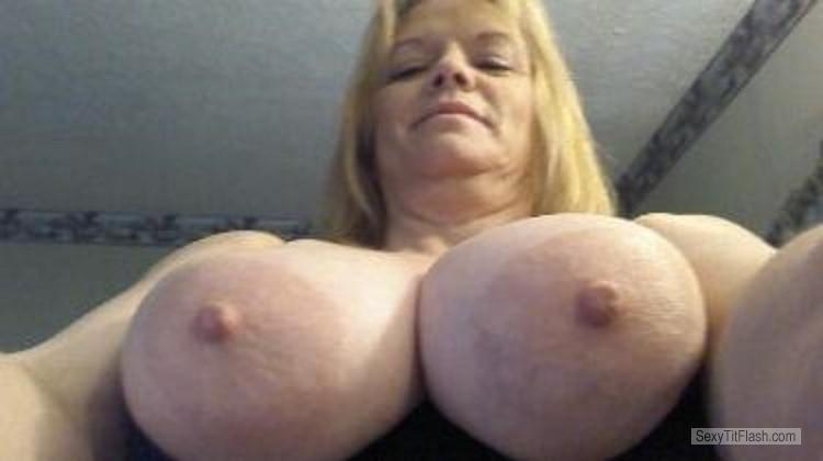 Tit Flash: My Big Tits (Selfie) - Topless Denise from United States
