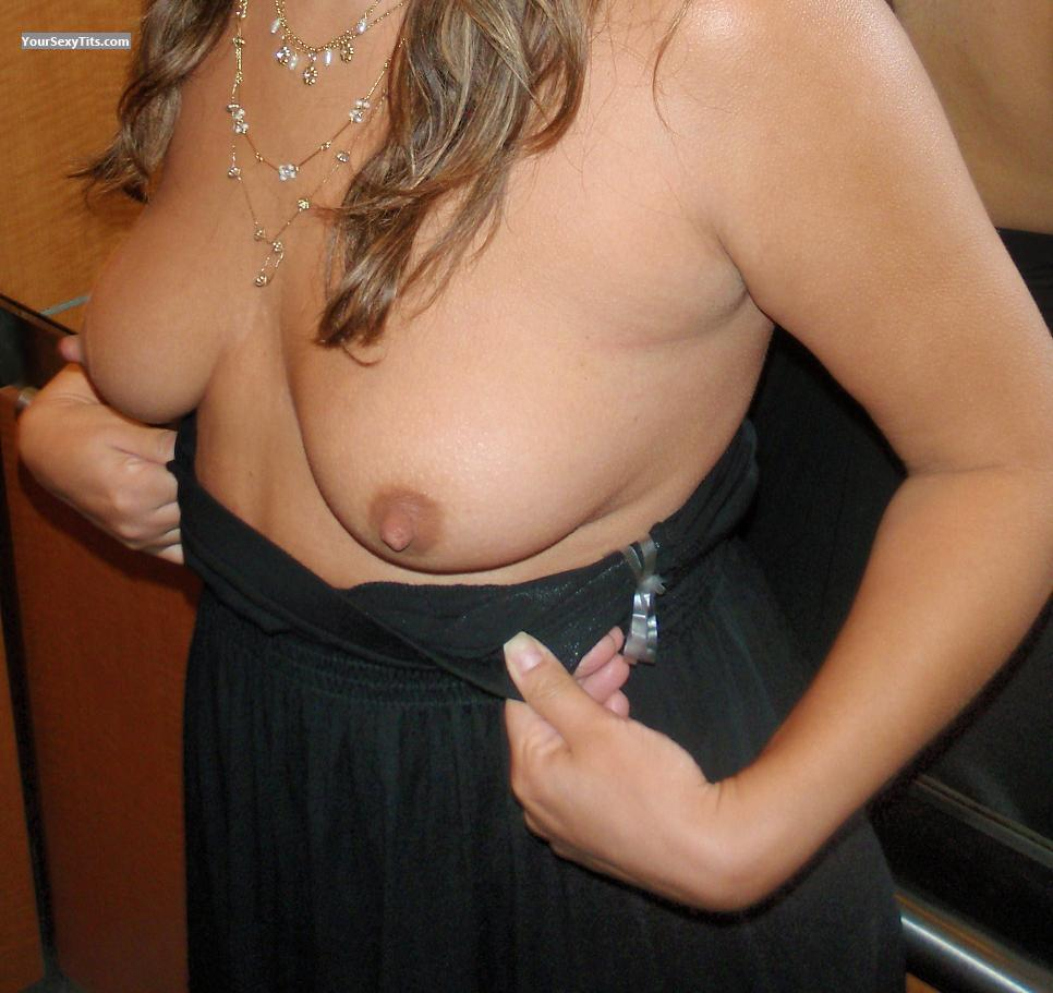 Tit Flash: Big Tits - Kristy from Canada