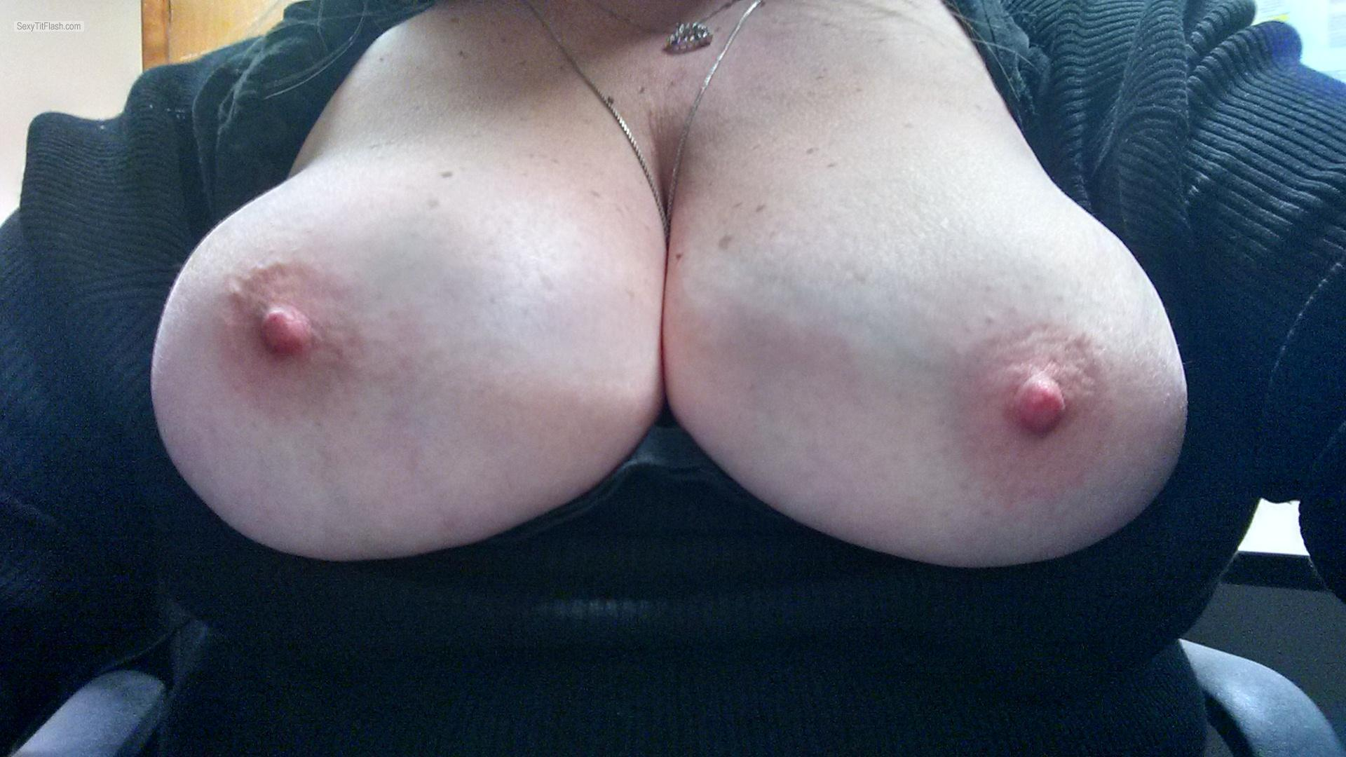 Tit Flash: My Big Tits (Selfie) - Willow from United States