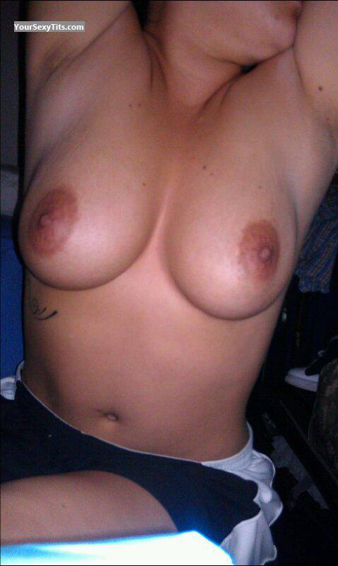 Tit Flash: My Big Tits (Selfie) - Armyperson from United States