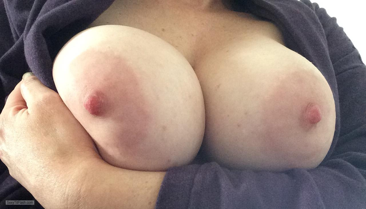 Tit Flash: My Big Tits (Selfie) - I ❤️ Shelf Bras from United Kingdom