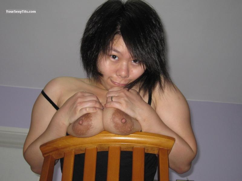 Tit Flash: Big Tits - Topless Lady_D from Thailand