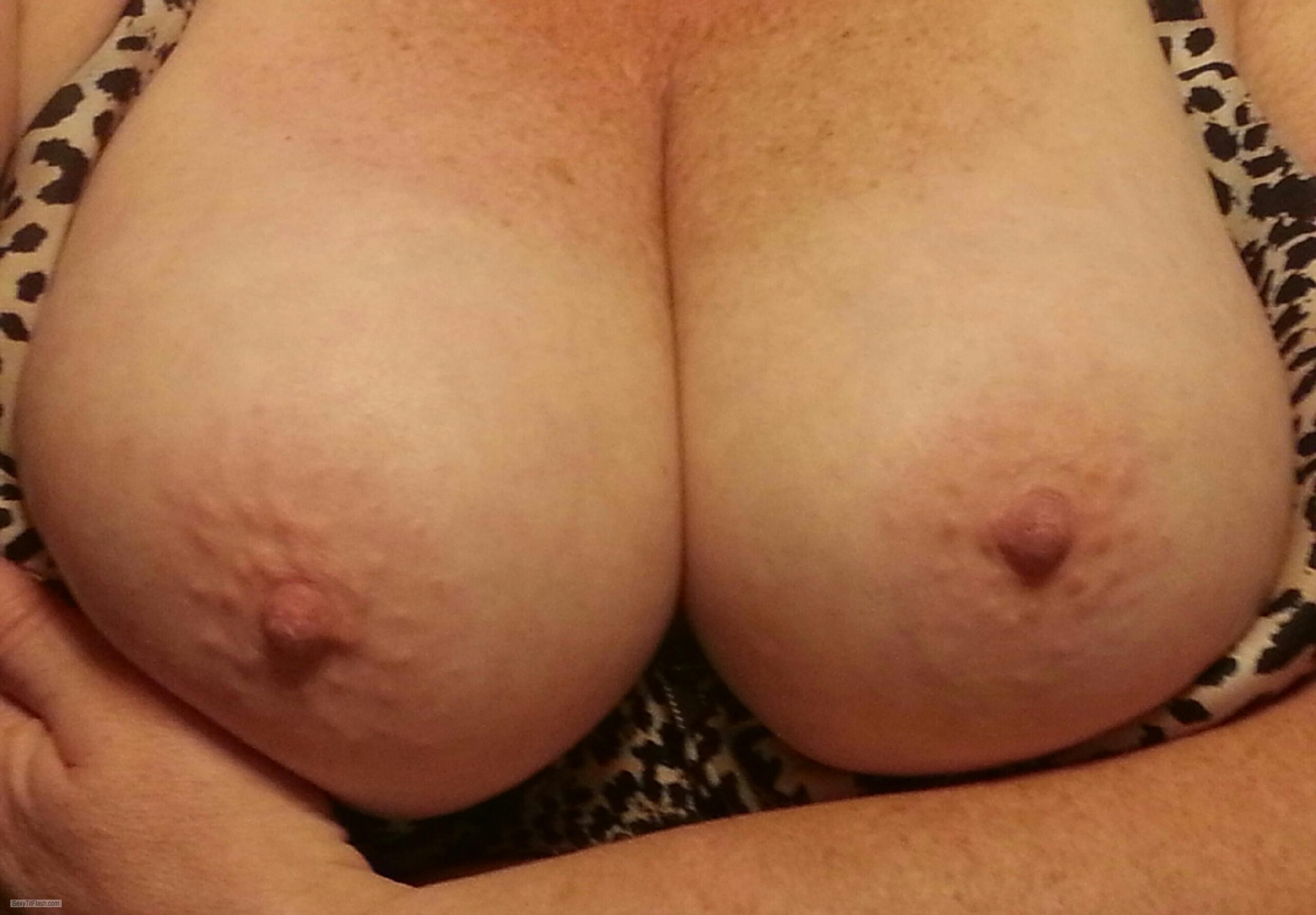 Tit Flash: My Big Tits - Angel from United Kingdom