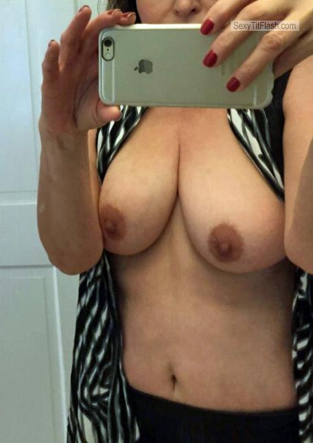 Tit Flash: Girlfriend's Big Tits - Pprincess from United Kingdom