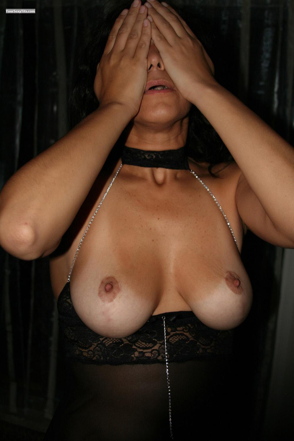Tit Flash: Big Tits - Shy Wife from United States