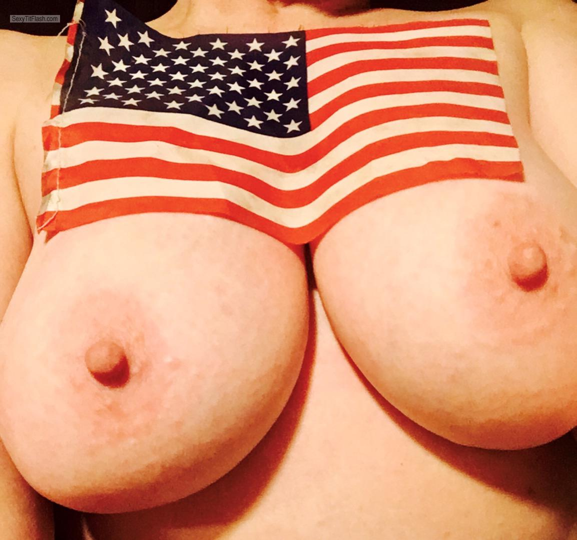 Tit Flash: My Big Tits (Selfie) - America from United States