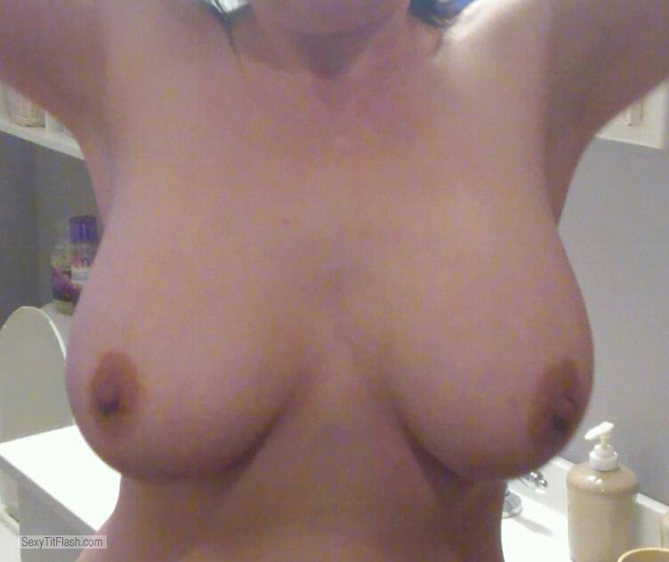 Tit Flash: My Big Tits - Topless Anon from United States