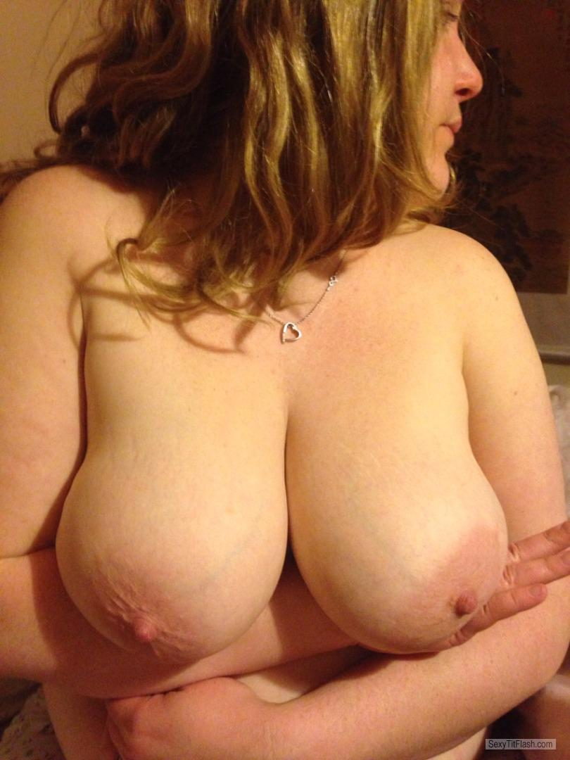 Tit Flash: My Big Tits - Topless Emz from United Kingdom