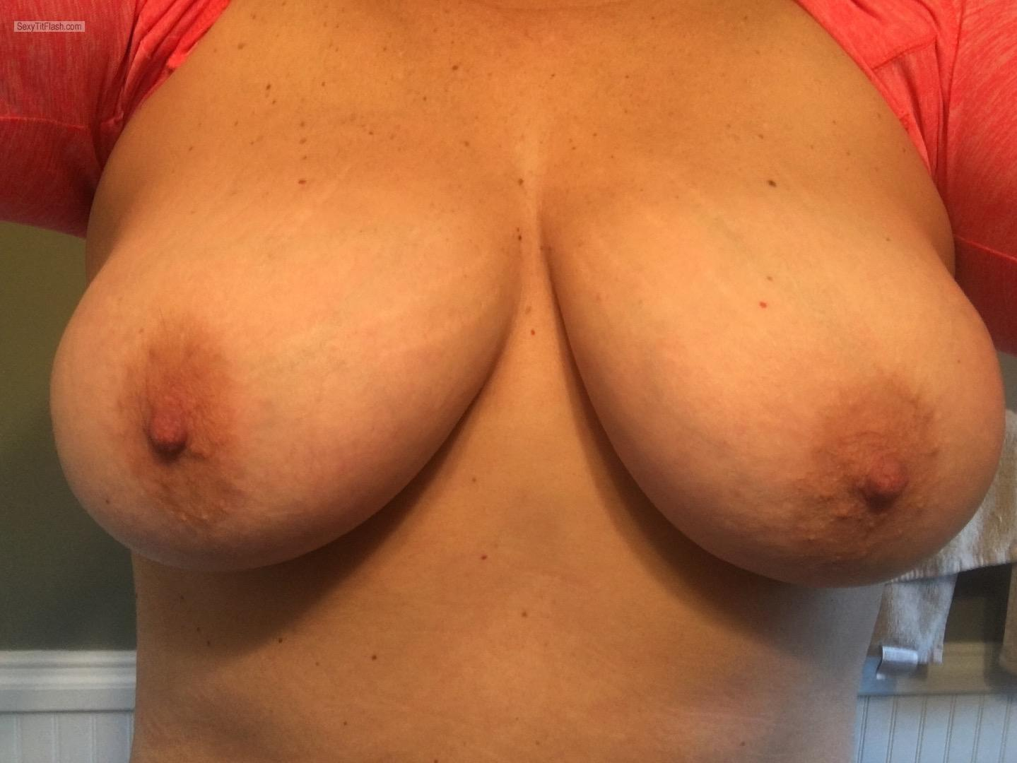 Tit Flash: My Big Tits (Selfie) - Shan from United States
