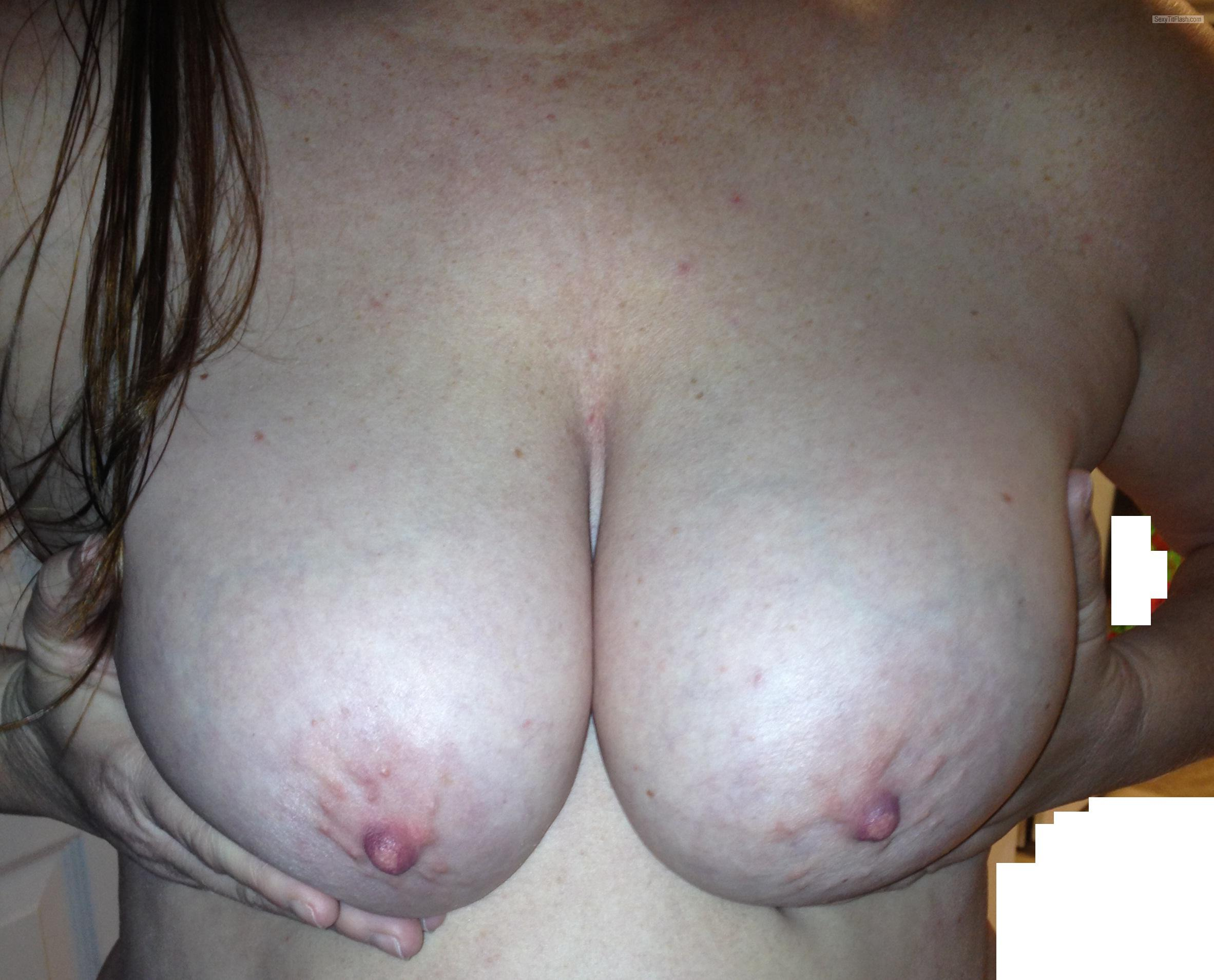 Tit Flash: Wife's Big Tits - Peek A Boos Tits from United States