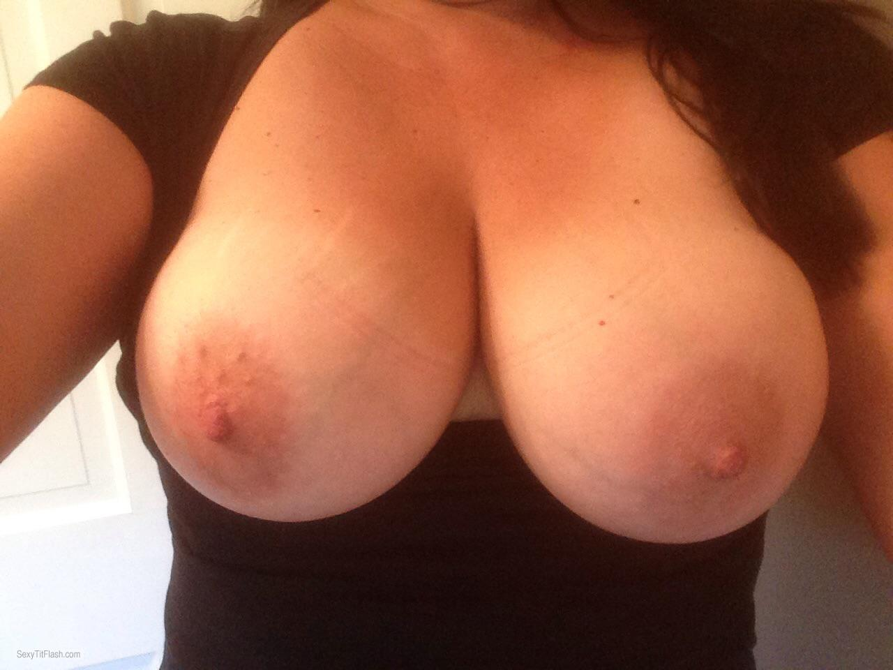 Big natural tits facial