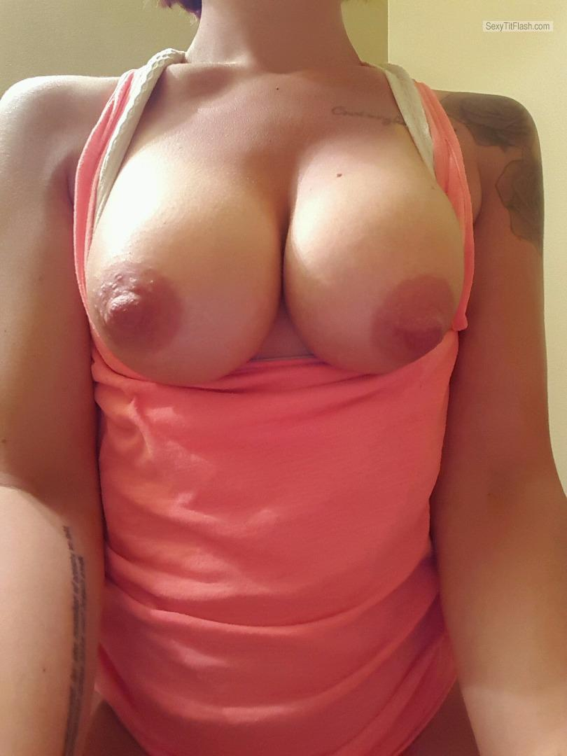 Big Tits Of My Wife Topless Selfie by Pregnant Wife