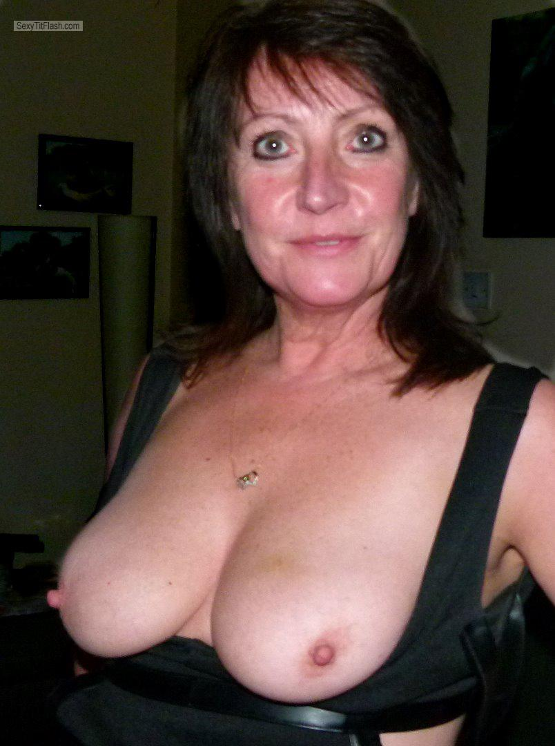 Tit Flash: My Medium Tits - Topless Elaine from United Kingdom