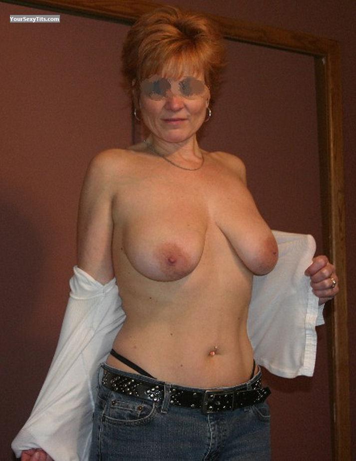 Jerking tugging big boobs