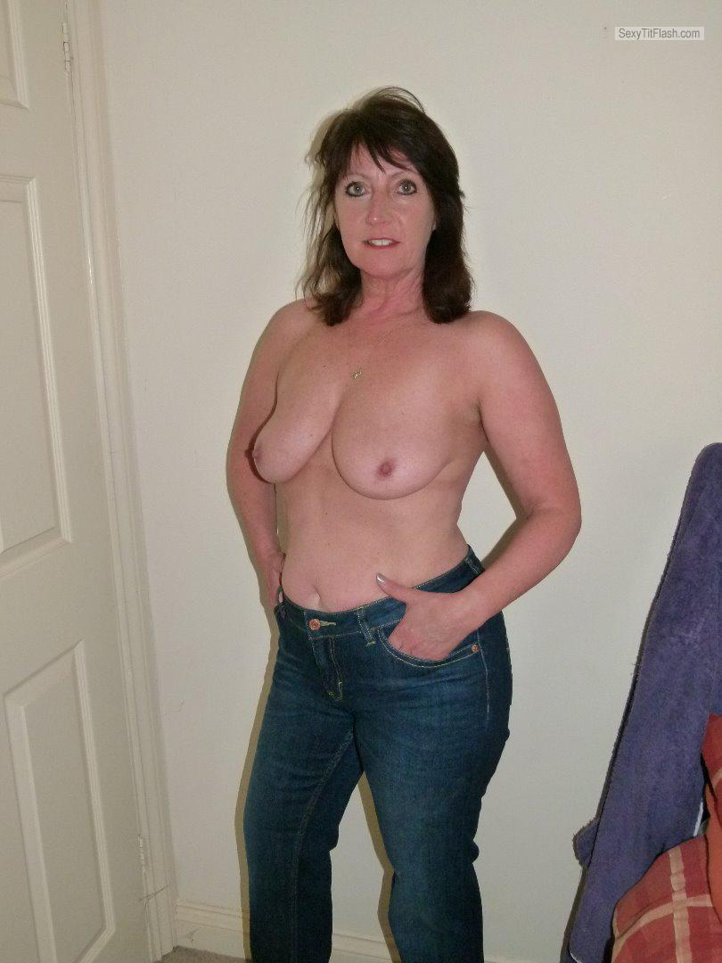 Tit Flash: My Small Tits - Topless Elaine J from United Kingdom