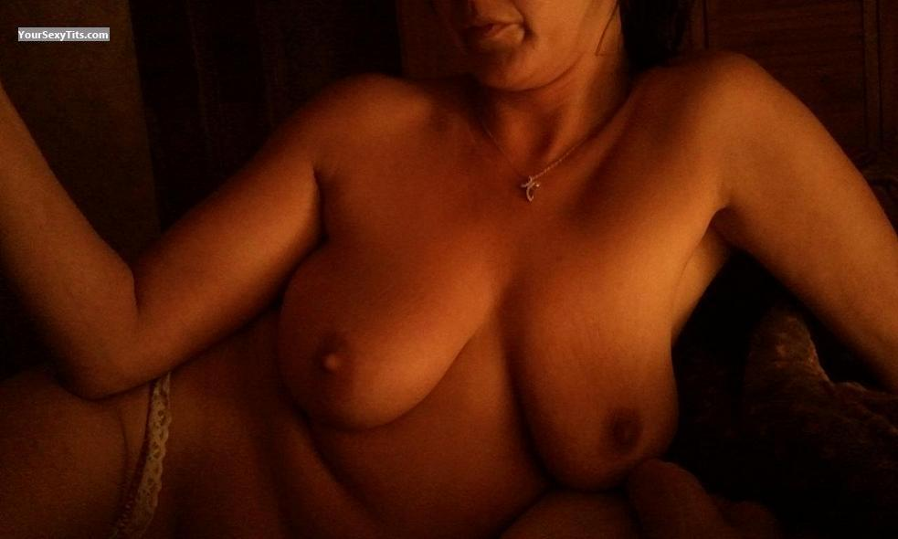 Tit Flash: Wife's Big Tits - Naughty Mom from United States