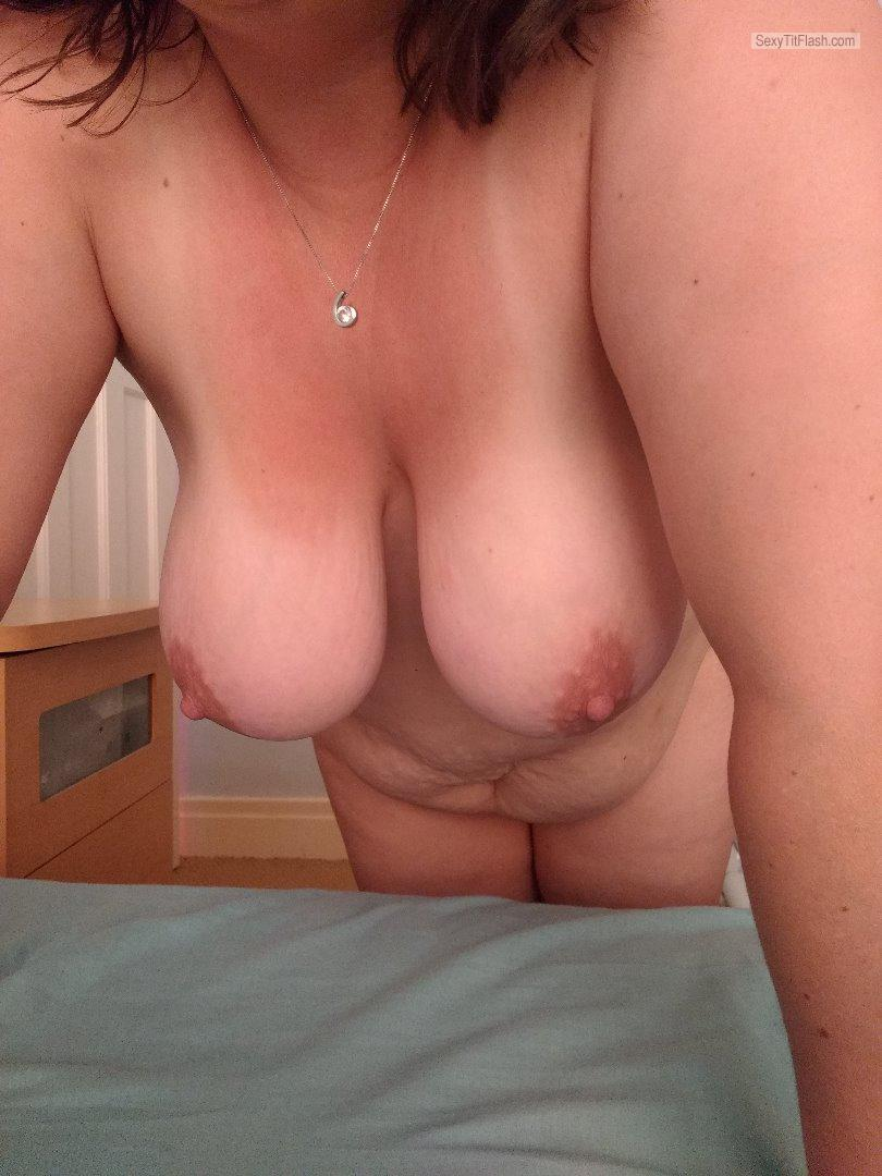 Tit Flash: Wife's Big Tits - Randy Mandy from United Kingdom