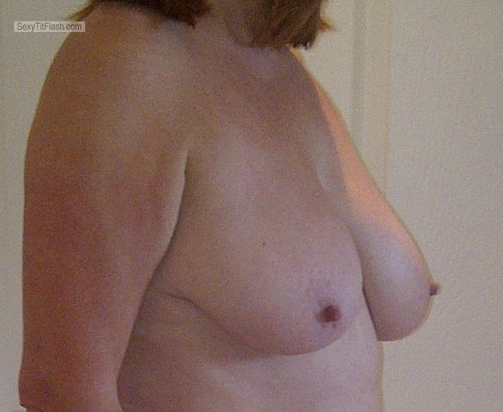 Tit Flash: Wife's Big Tits - Laura from United Kingdom