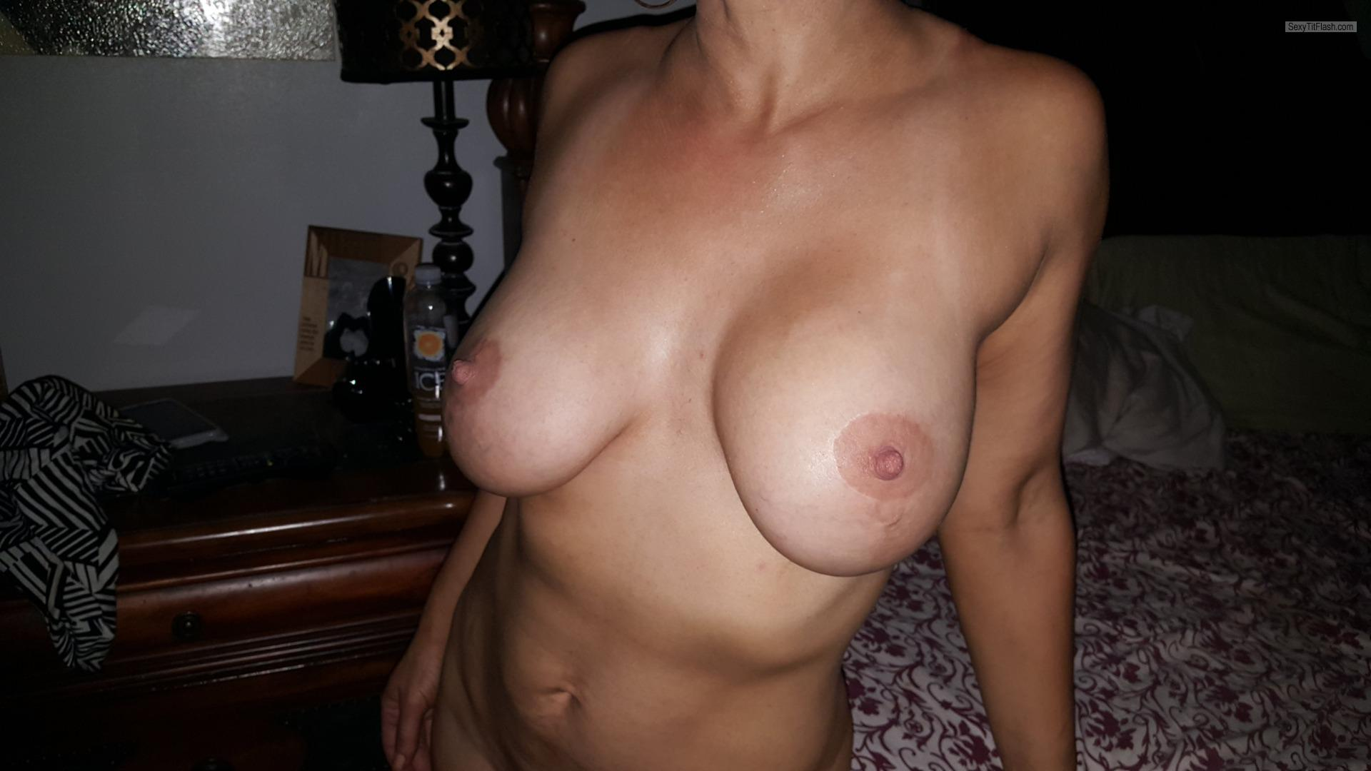 Tit Flash: Wife's Big Tits - Milf77 from United States