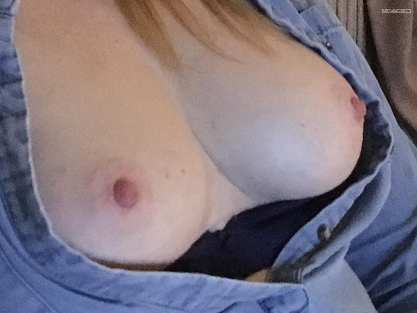 Tit Flash: Wife's Big Tits - Topless Candy from United Kingdom