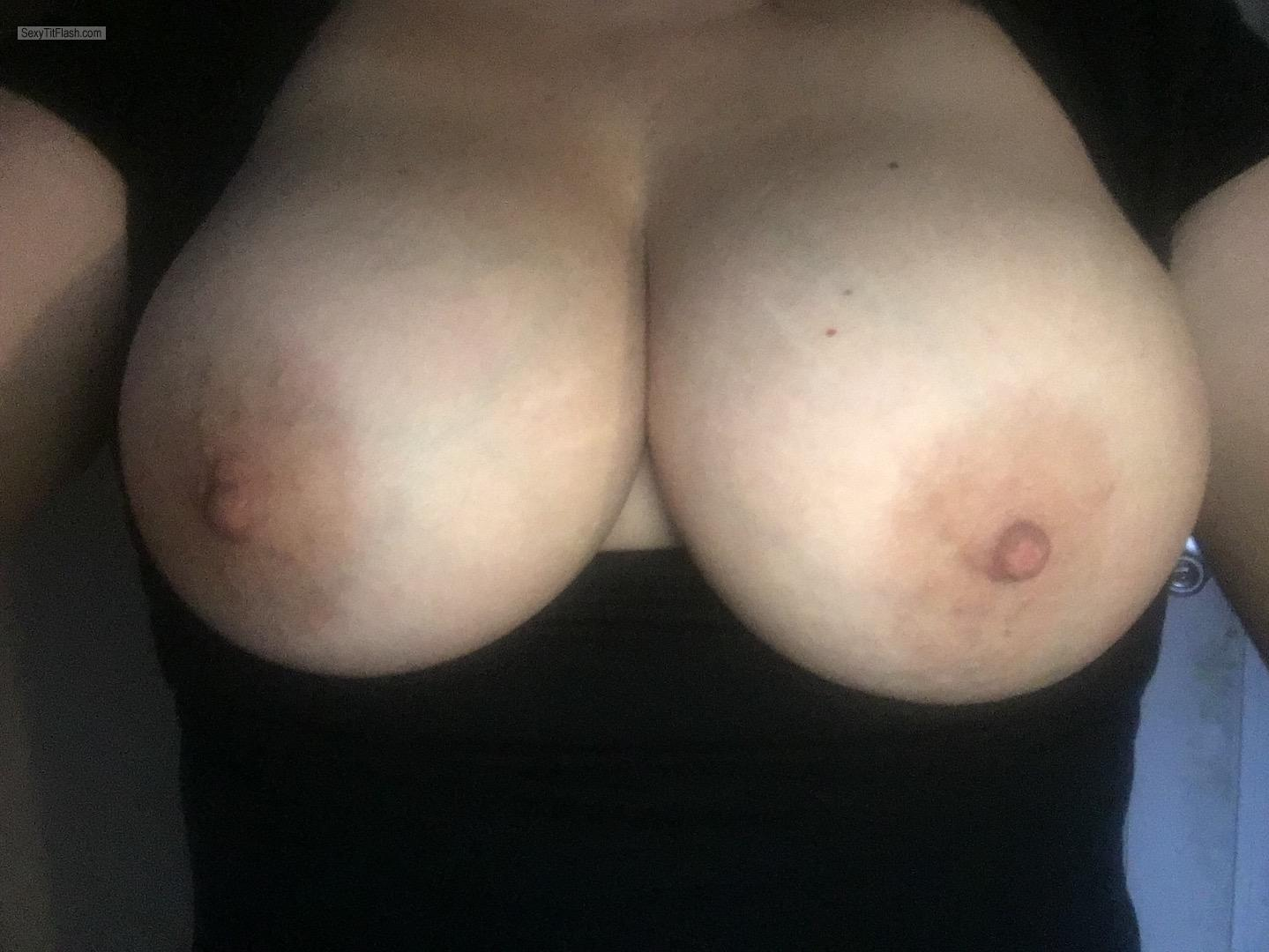 Tit Flash: My Big Tits - Topless Shan from United States