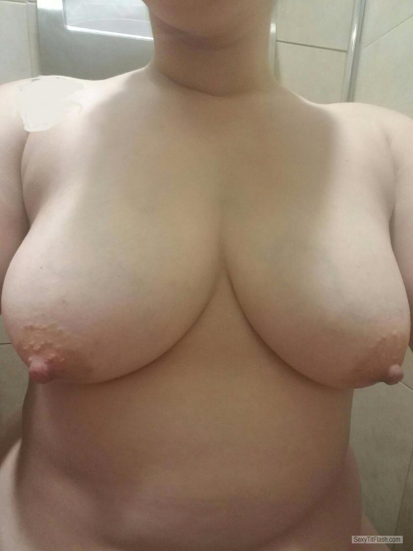 Big Tits Of My Wife Selfie by Wifes Tits